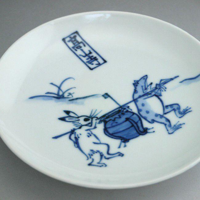 鳥獣戯画6寸皿