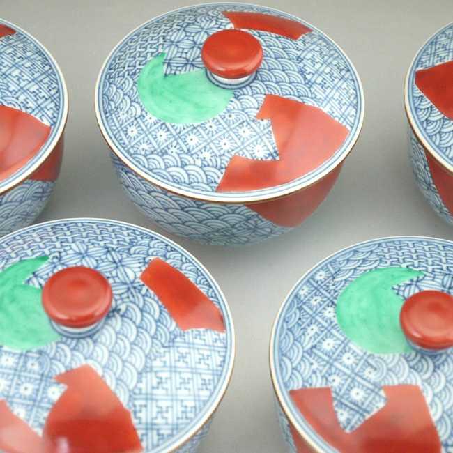 【京焼 清水焼】赤網 石瓶