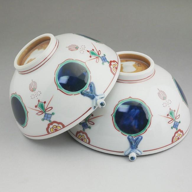 京焼清水焼一閑人丸紋夫婦茶碗