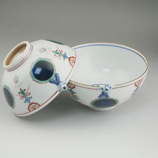 京焼清水焼一閑人丸紋ご飯茶碗