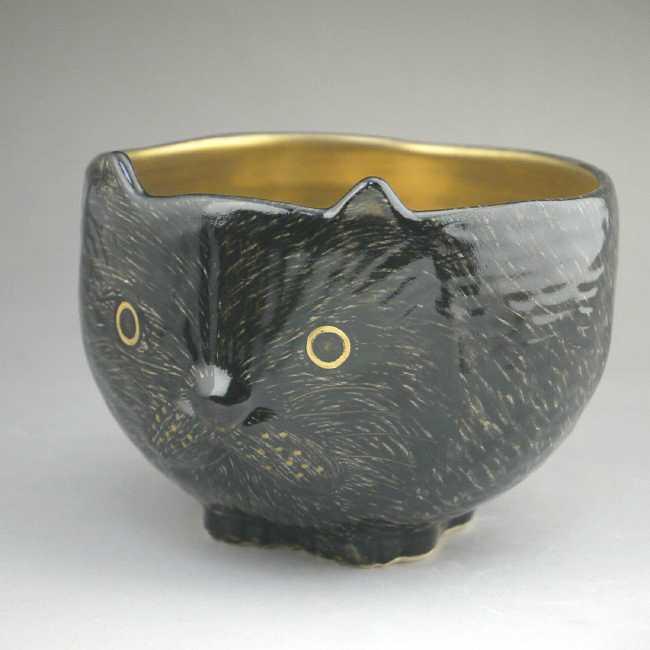 猫の抹茶茶碗