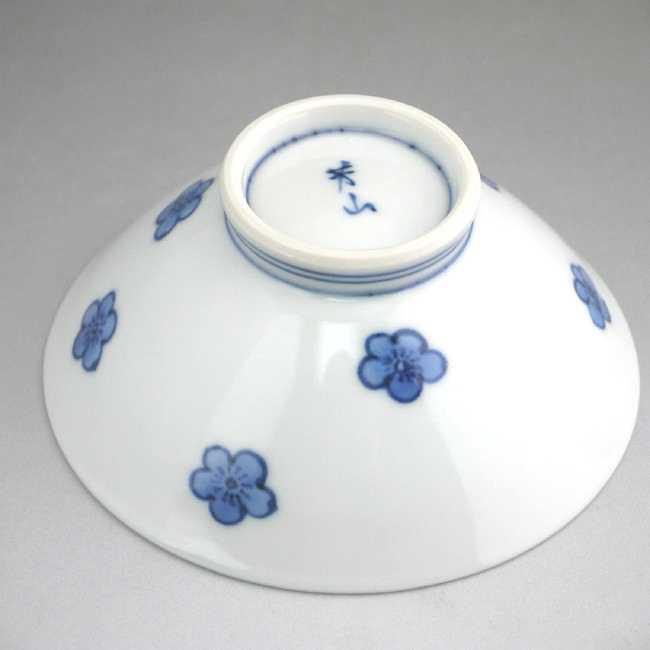 【京焼清水焼】染付梅ご飯茶碗