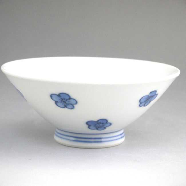 【京焼清水焼】染付梅絵ご飯茶碗