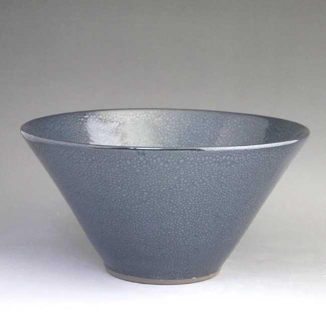 結晶釉 輪花鉢 七寸