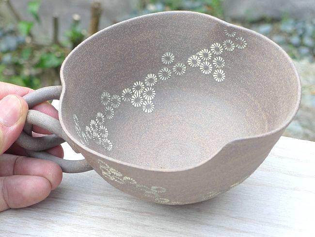 【京焼 清水焼】焼締スープカップ