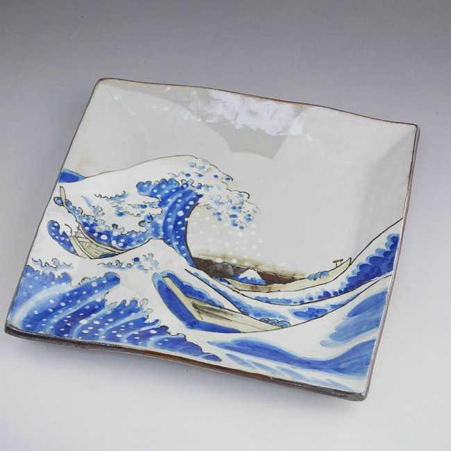 【京焼 清水焼】彩りさくら7寸角皿