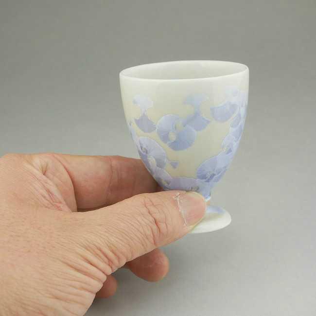花結晶丸高台杯