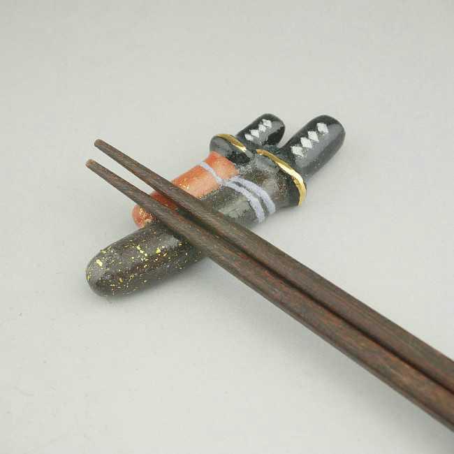【京焼 清水焼】日本刀箸置き 清水焼