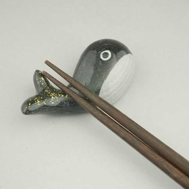 【京焼 清水焼】クジラ箸置き 清水焼