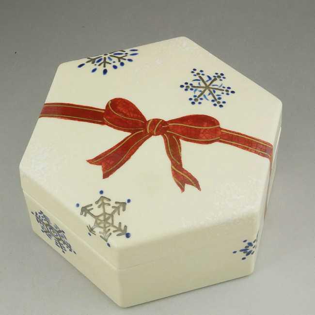 クリスマスプレゼント蓋物 松斎