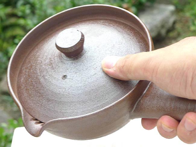 京焼清水焼焼〆急須 河島浩三