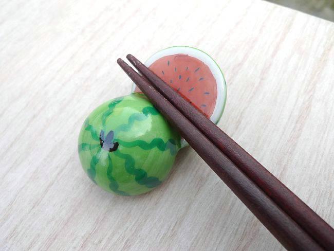 【京焼 清水焼】西瓜(すいか,スイカ)の箸置き