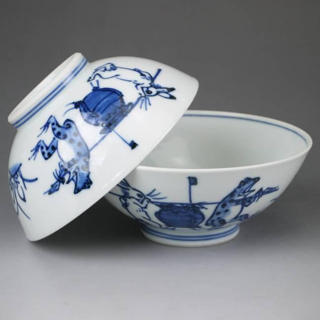 【京焼清水焼】鳥獣戯画ご飯茶碗