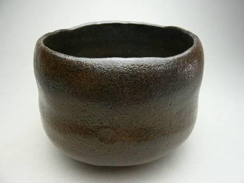 【京焼 清水焼】昭楽作黒楽茶碗 銘 喝食