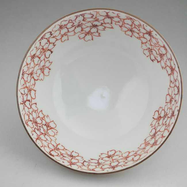 【京焼清水焼】染付桜ご飯茶碗