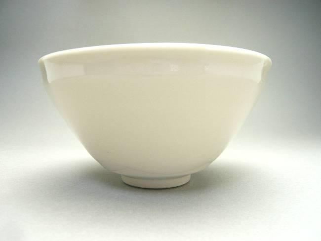 【京焼 清水焼】貴人茶碗(天目茶碗 白磁)