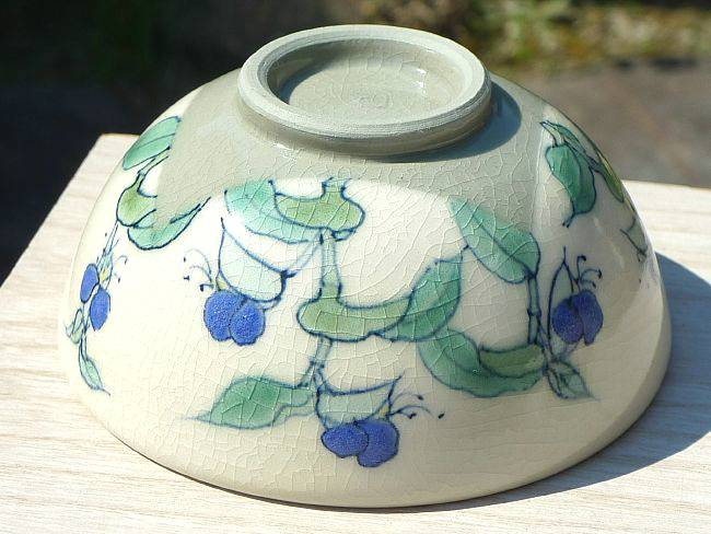 露草ご飯茶碗