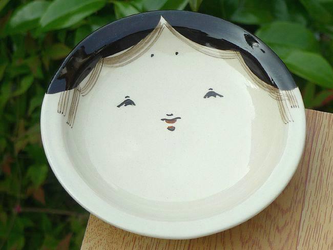 お福とひょっとこの皿