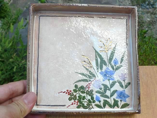 【京焼 清水焼】抹茶碗菖蒲の花