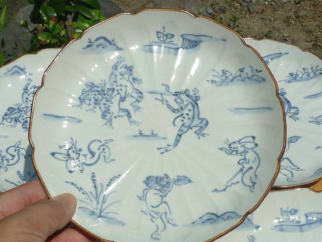 鳥獣戯画7寸皿