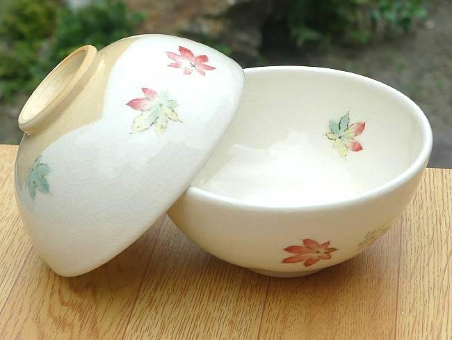 【京焼 清水焼】移ろい紅葉 ご飯茶碗