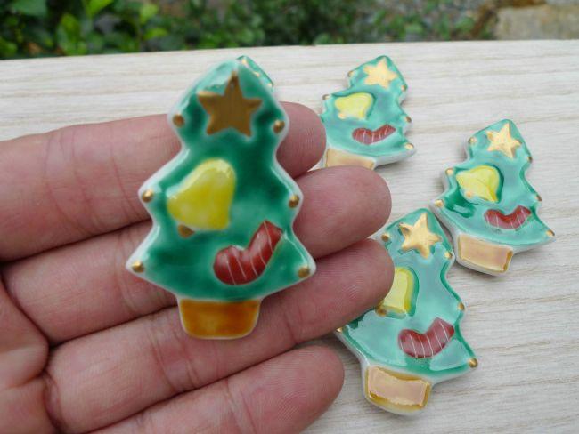【京焼 清水焼】箸置きクリスマスツリー 清水焼