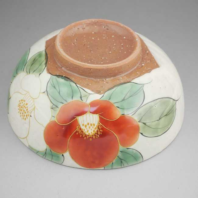 紅白椿清水焼陶あん