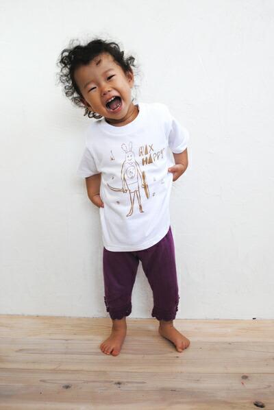 【nuttsponchon/ ナッツポンチョン】 キッズTシャツ MAX HAPPY