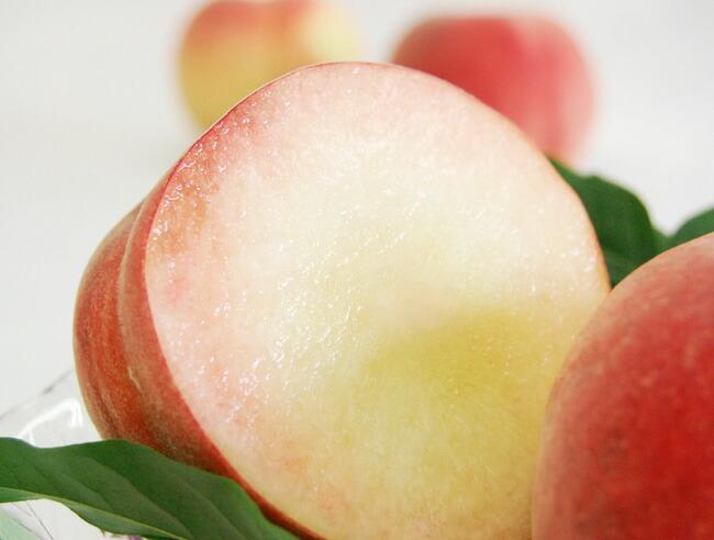 【お中元や夏のギフトに】特大の桃を化粧箱に詰めた爽やかなフルーツギフト