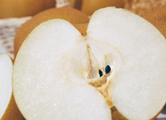 豊水梨の断面