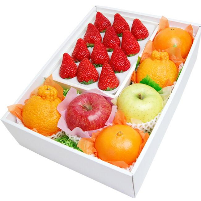 お祝いやお誕生日ギフトにも人気!紅ほっぺいちご入りフルーツセット