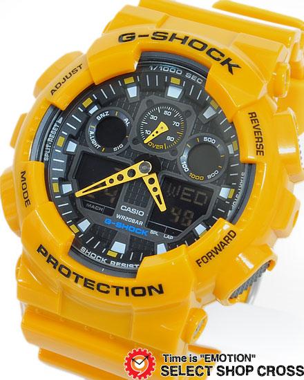 Casio Casio G Shock G Shock Watch Men S Overseas Model Ga 100a 9adr Yellow