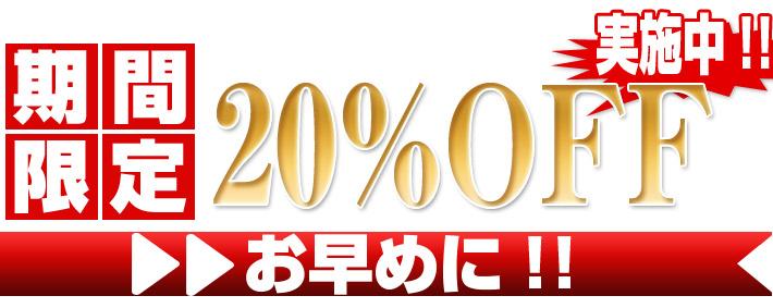 期間限定20%OFF実施中!!お早めに!!