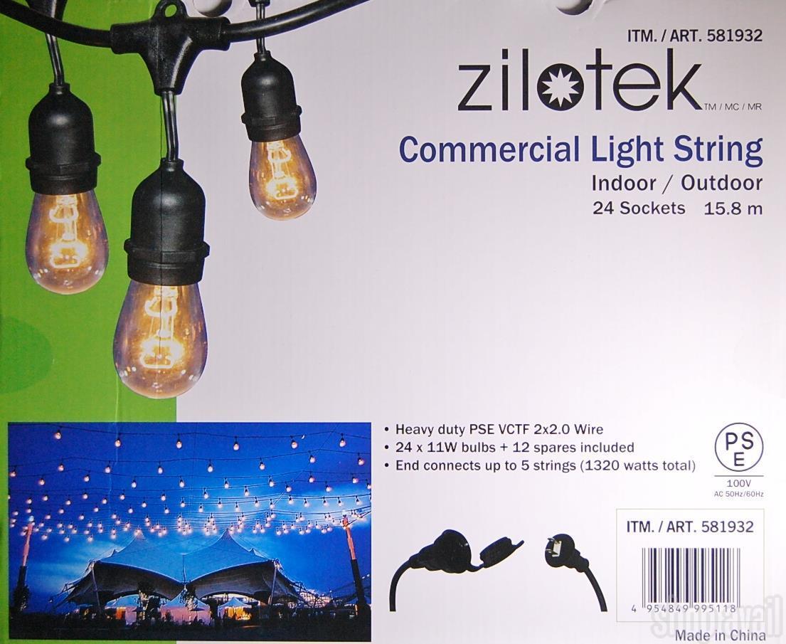 【楽天市場】 送料無料 イルミネーション ライト ストリングライト15 8m Zilotek デコレーションライト