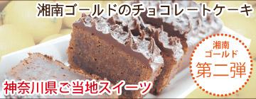 湘南ゴールドのチョコレートケーキ