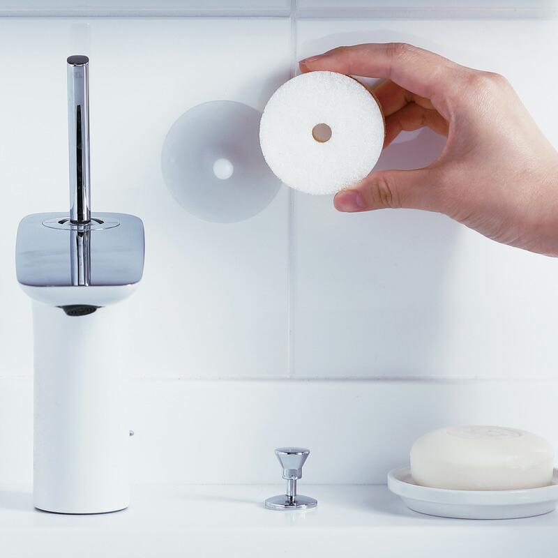 洗面スポンジPOCO吸盤付きW615