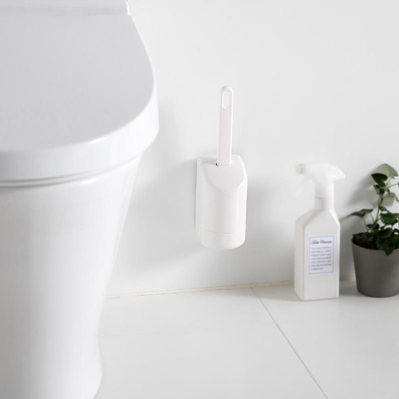 フチ裏スッキリ トイレ ブラシ ミニ (ホワイト) W085W