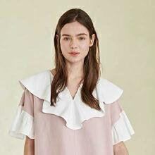 Coett White Ruffle Dress_LAVENDER