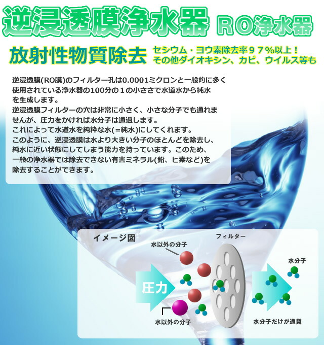 逆浸透膜浄水器/RO浄水器