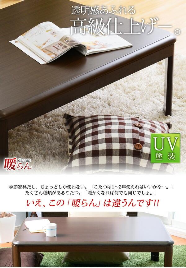 家具調こたつ【暖らん(120cm幅・長方形)】(テーブルのみ)