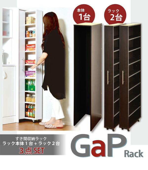 すき間収納ラック【GaP】ラック2台+専用ケースセット