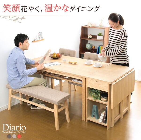 ダイニングセット【Diario-ディアリオ-】(バタフライテーブル付き5点セット)