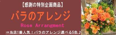 薔薇のアレンジ 送料無料・メッセージカード・画像サービス付