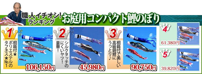 お庭用コンパクト鯉のぼり