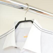 ブラウスやシャツに最適&襟元をキレイにキープ*すべらないマワハンガー41