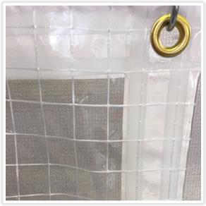 【防炎】糸入り透明ビニールカーテン0.5mm厚