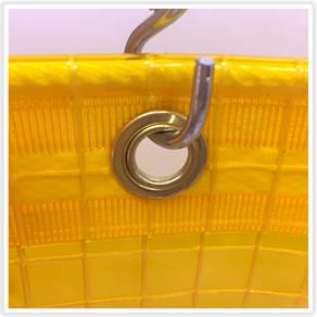【防虫・帯電・防炎】糸入りオレンジビニールカーテン0.35mm厚