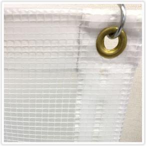 【防炎】糸入り透明ビニールカーテン0.8mm厚