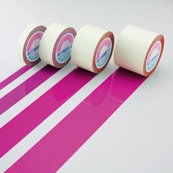 ガードテープ 赤紫 サイズ:75mm幅×100m (148101)