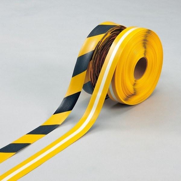 ラインプロ 50mm幅×30m カラー:黄/黒 (258115)